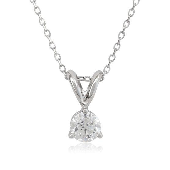 Diamond Solitaire Pendant 14K, 1/3 ct.