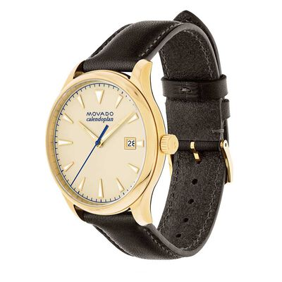 Movado Heritage Calendoplan Yellow Ion Watch