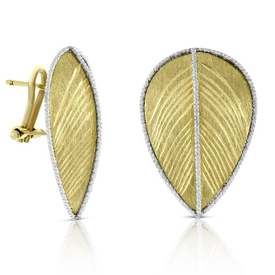 Toscano Leaf Earrings 14K