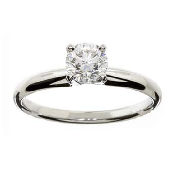 Ikuma Canadian Diamond Solitaire White Gold Ring 14K, 3/4 ct.