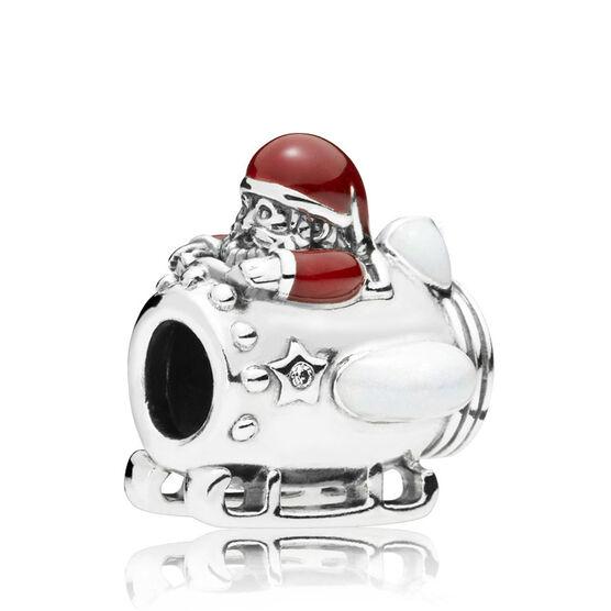 Pandora Santa in Space CZ & Enamel Charm