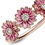 Pandora Rose™ Pink Daisy Flower Enamel Trio Ring