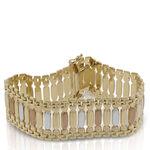 Toscano Tri-Color Stampato Bracelet 18K