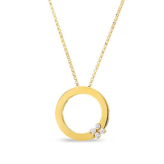 Roberto Coin Love In Verona Diamond Circle Of Life Necklace 18K