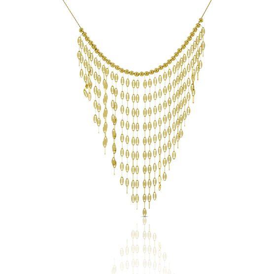 Dangle Bib Necklace 14K