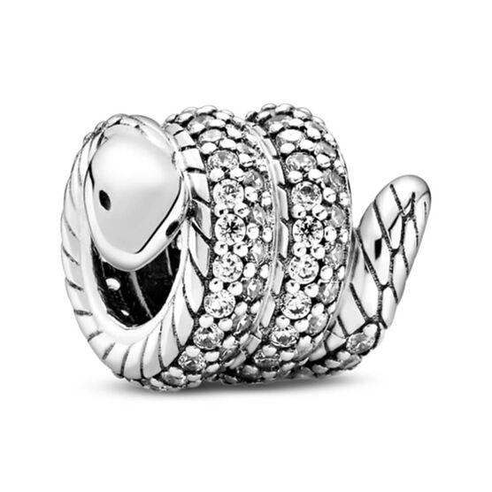 Pandora Sparkling Wrapped Snake CZ Charm