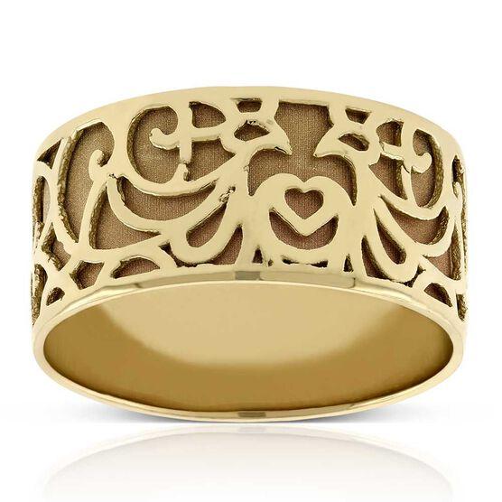 Toscano Carved Band Ring 14K