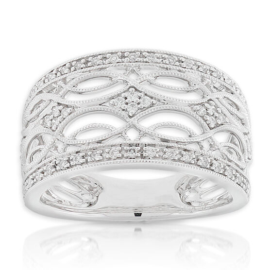 Filigree Diamond Ring 14K