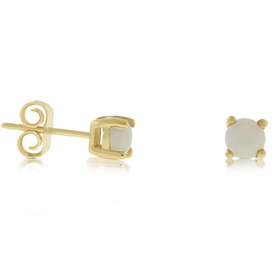 Opal Stud Earrings 14K