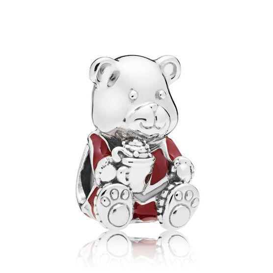 PANDORA Christmas Teddy Bear Enamel Charm