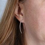 Threader Hoop Diamond Earrings 14K