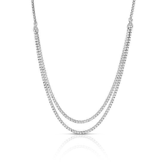 Double Row Diamond Necklace 14K, 3.50 ctw.