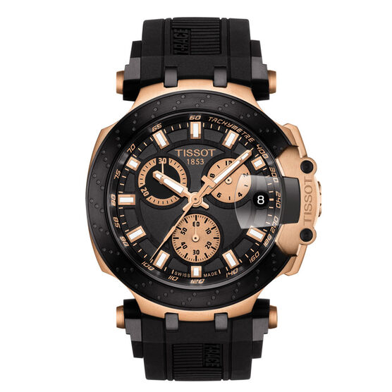 Tissot T-Race T-Sport Black & Rose PVD Chronograph Watch, 43mm