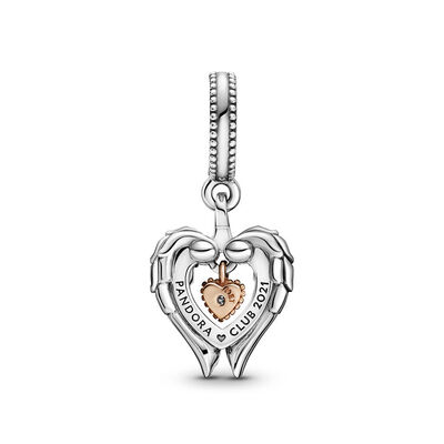 Pandora Rose™ Club 2021 Angel Wings & Heart Diamond Dangle Charm