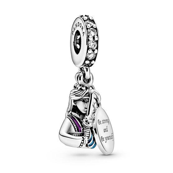 Pandora Disney Mulan Enamel & CZ Dangle Charm