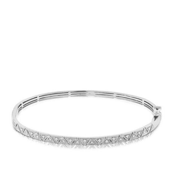 Diamond Bangle Bracelet 14K