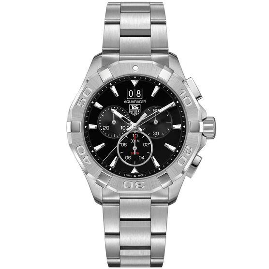TAG Heuer Aquaracer Quartz Mens Black Steel Chronograph Watch