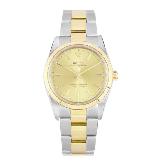 Pre-Owned Rolex Oyster Perpetual Watch, 34mm, 18K & Steel