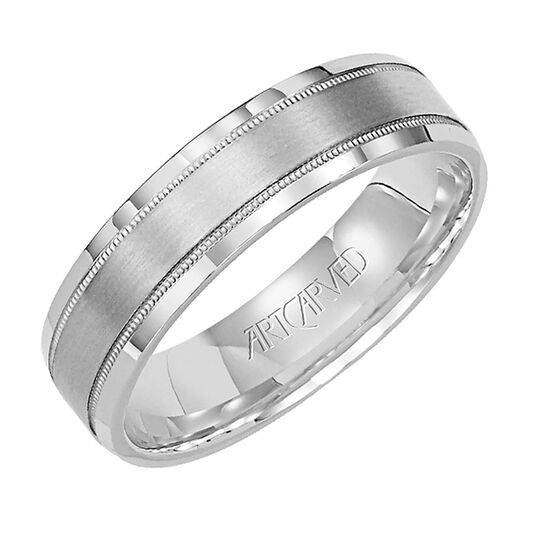 Men's ArtCarved Band, 5.5mm, 14K