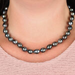 Graduated Cultured South Sea Tahitian Pearl Strand 14K