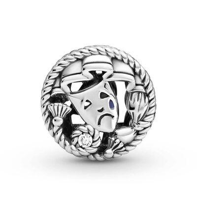 Pandora Comedy & Tragedy Drama Masks Enamel & CZ Charm