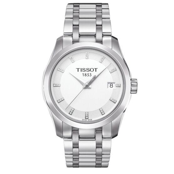 Tissot Couturier T-Classic Diamond Markers Quartz Watch