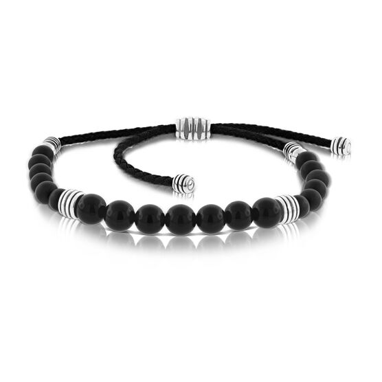 Bolo Onyx Bracelet with Sterling Silver