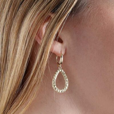 Toscano Open Pear Drop Earrings 14K