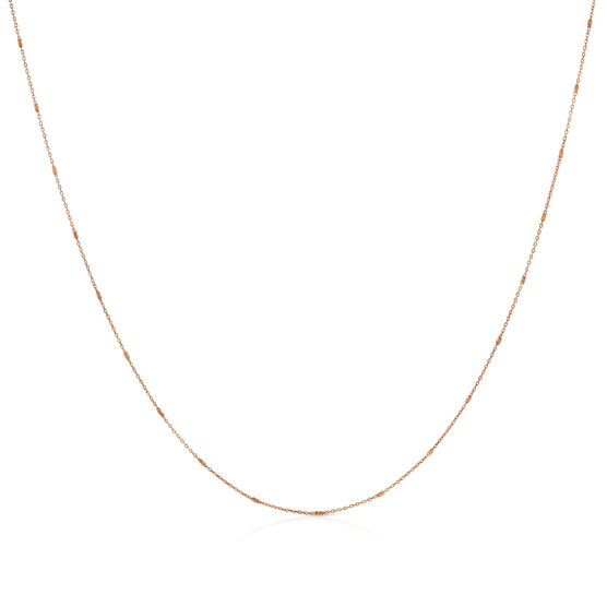 """Rose Gold Small Rolo Chain 14K 24"""""""