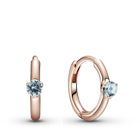 Pandora Rose™ Light Blue Solitaire Crystal Huggie Hoop Earrings