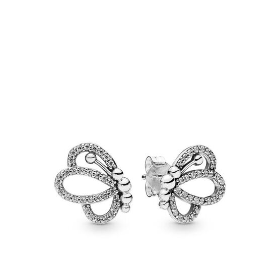 Pandora Butterfly Outlines CZ Stud Earrings