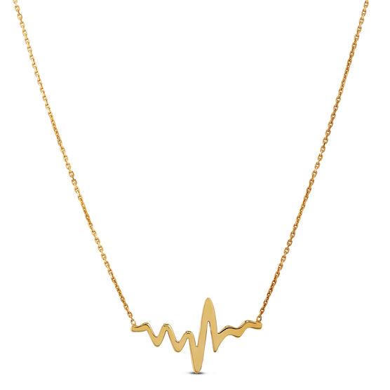 Heartbeat Necklace 14K