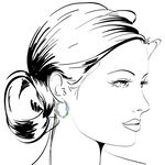 Lisa Bridge Chalcedony & Agate Hoop Earrings