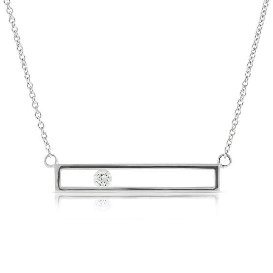 Sliding Diamond Necklace 14K