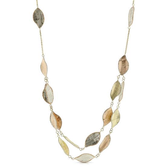 Toscano Leaf Stations Necklace 14K