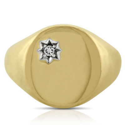 Men's Signet Ring 14K