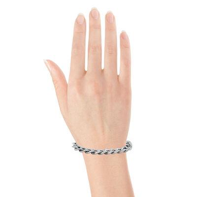 """Toscano Curb Link Bracelet, 8"""", 18K"""