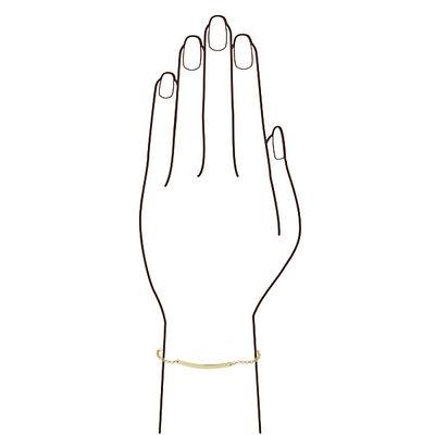 Engravable Bar Bracelet 14K
