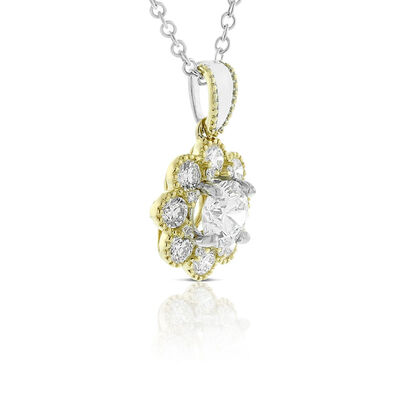 Signature Forevermark Two-Tone Diamond Necklace 18K
