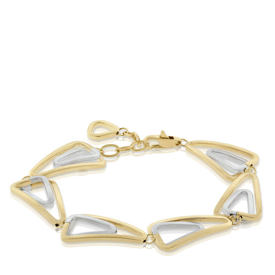Toscano Double Link Triangle Bracelet 18K