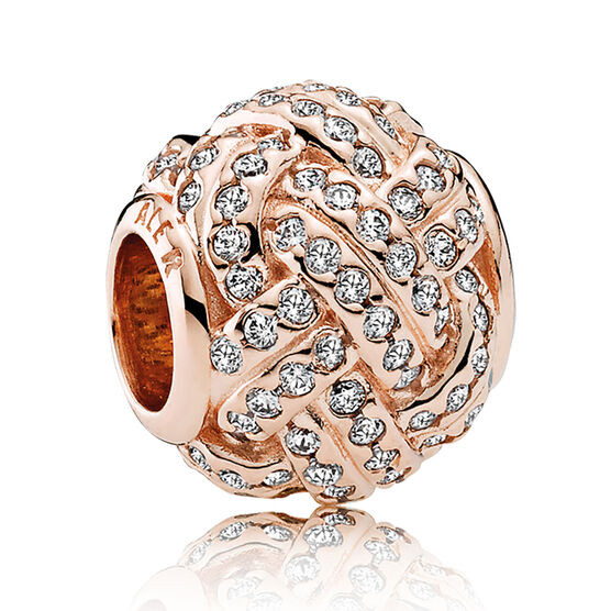 Sparkling Love Knot, PANDORA Rose™ CZ Charm