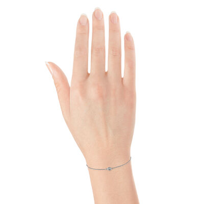 Bezel Diamond Bracelet 14K
