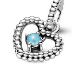 Pandora Purely Pandora Sky Blue Crystal Beaded Heart Dangle Charm
