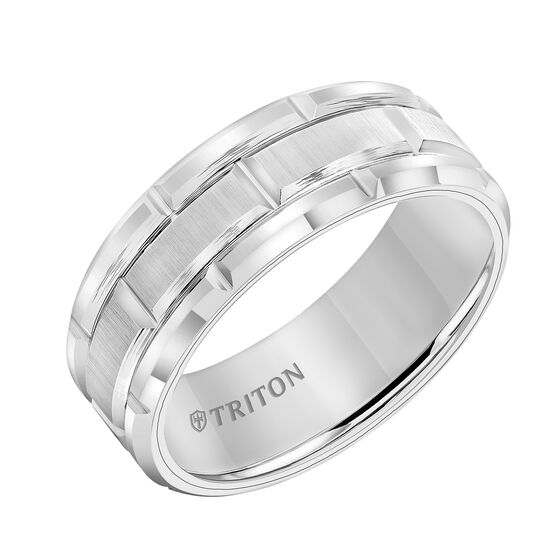 TRITON White Tungsten Band