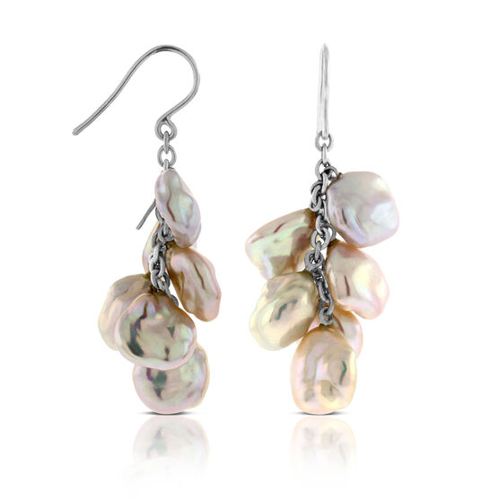 Cultured Pearl Dangle Earrings 18K