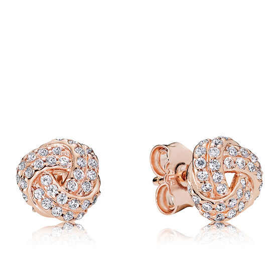 Pandora Rose™ Sparkling Love Knot CZ Earrings