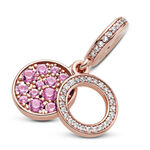 Pandora Rose™ Sparkling Pink CZ Disc Double Dangle Charm