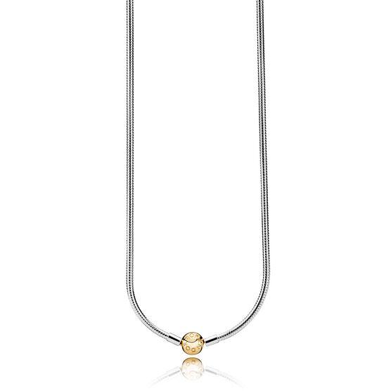 PANDORA Shine™ Clasp & Silver Snake Chain Necklace