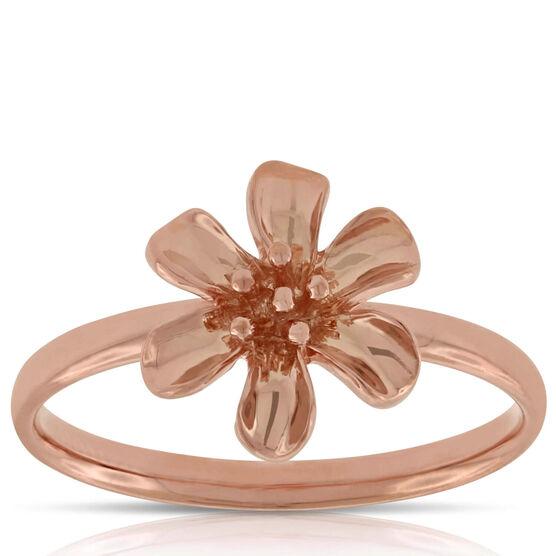 Rose Gold Flower Ring 14K
