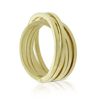 Toscano Crossover Ring 14K